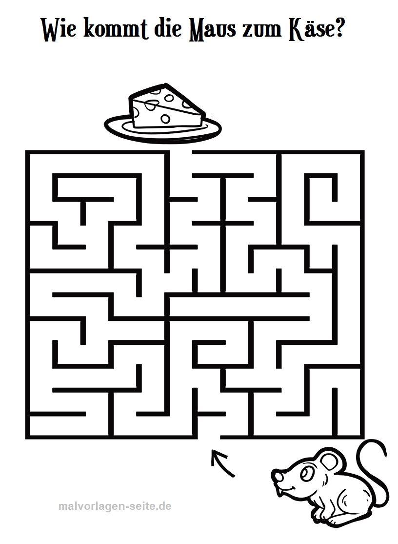 Labyrinthe Für Kinder Zum Ausdrucken - Kostenlos Rätseln über Labyrinth Spiele Kostenlos
