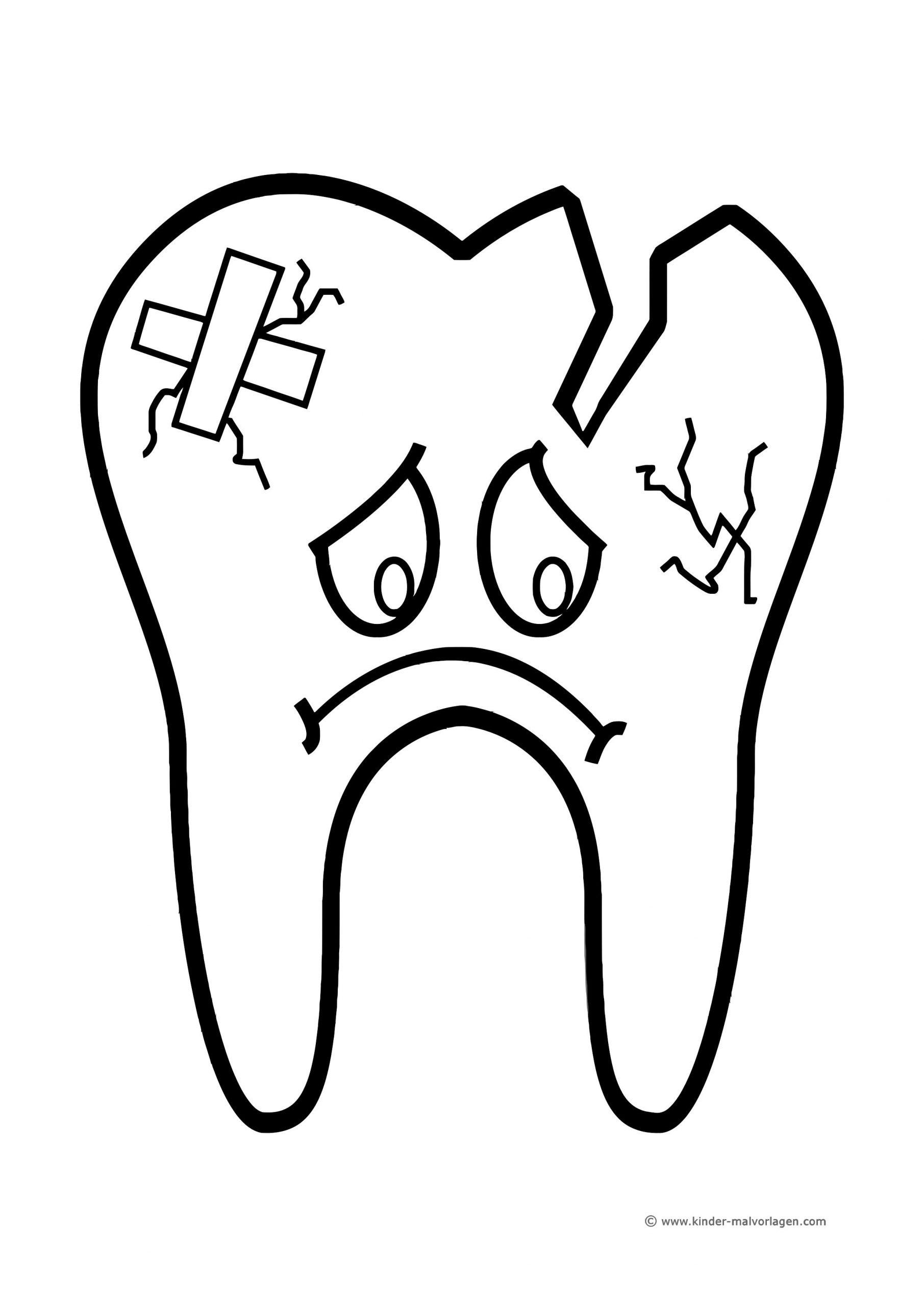 Lagz Rheinland-Pfalz über Ausmalbild Zahn