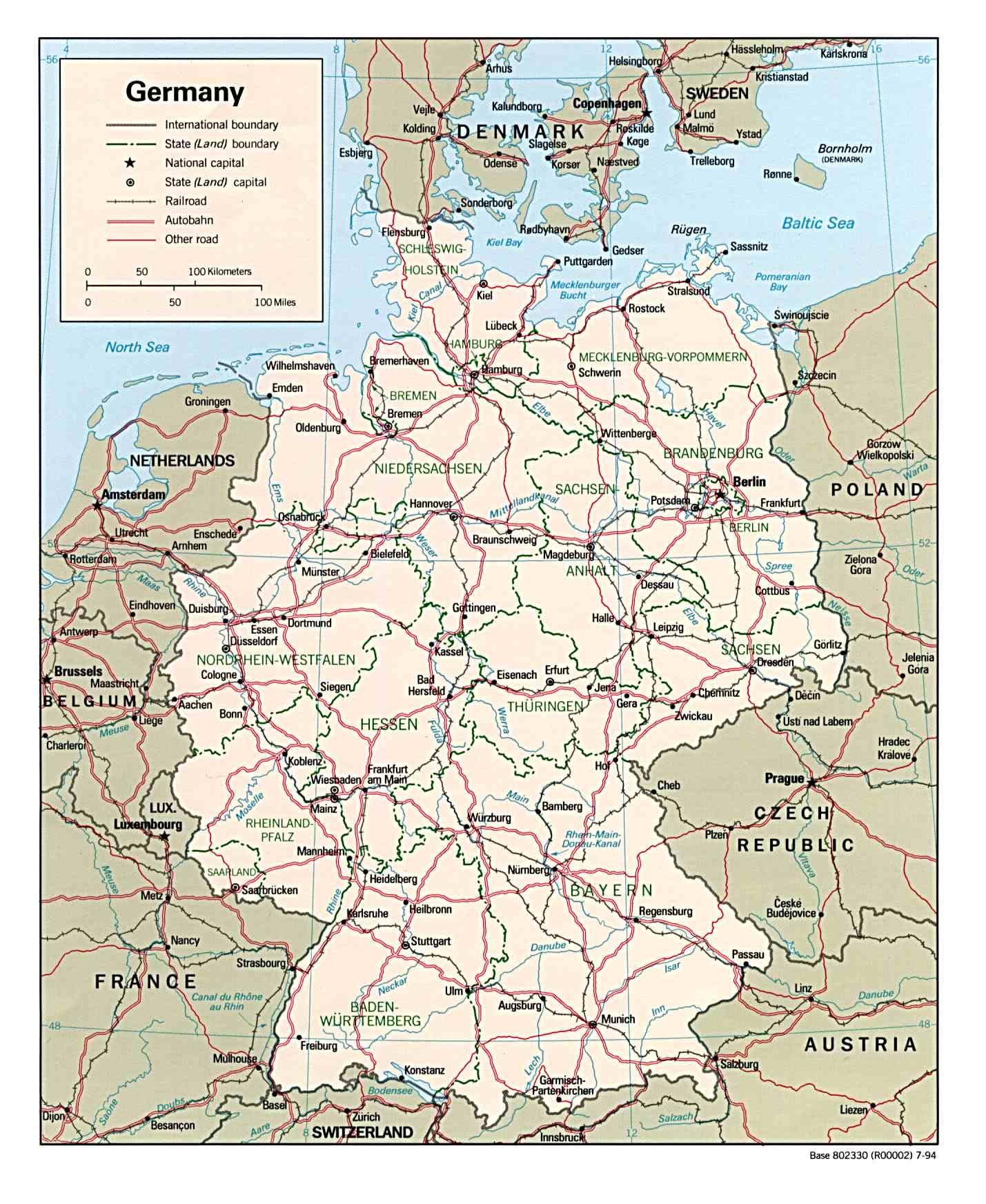 Landkarte Deutschland - Deutschlandkarte - Deutschland Landkarte für Deutschlandkarte Mit Bundesländern Und Städten