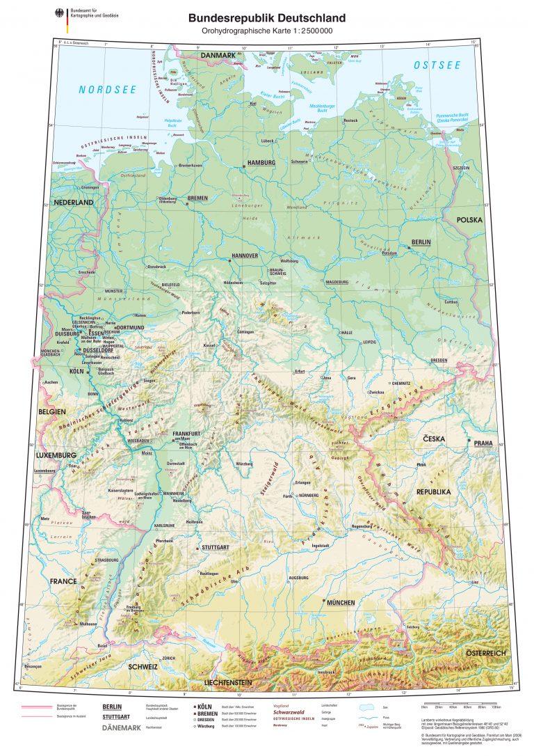 Landkarte Deutschland - Deutschlandkarte - Deutschland ...