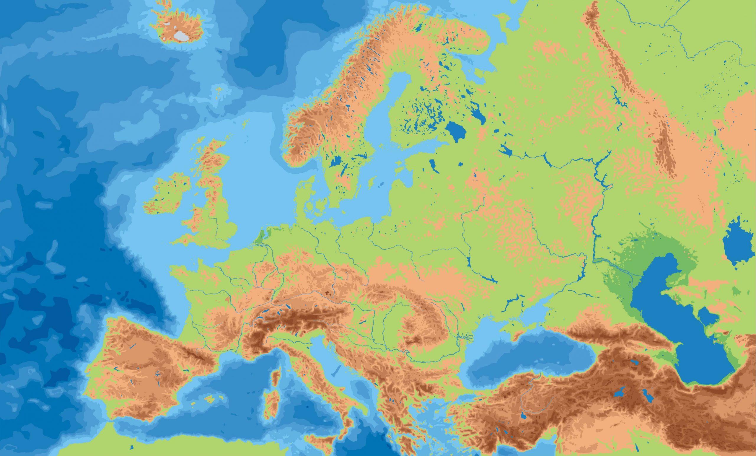 Landkarte Europa - Landkarten Download -> Europakarte bei Karte Europa Ohne Beschriftung