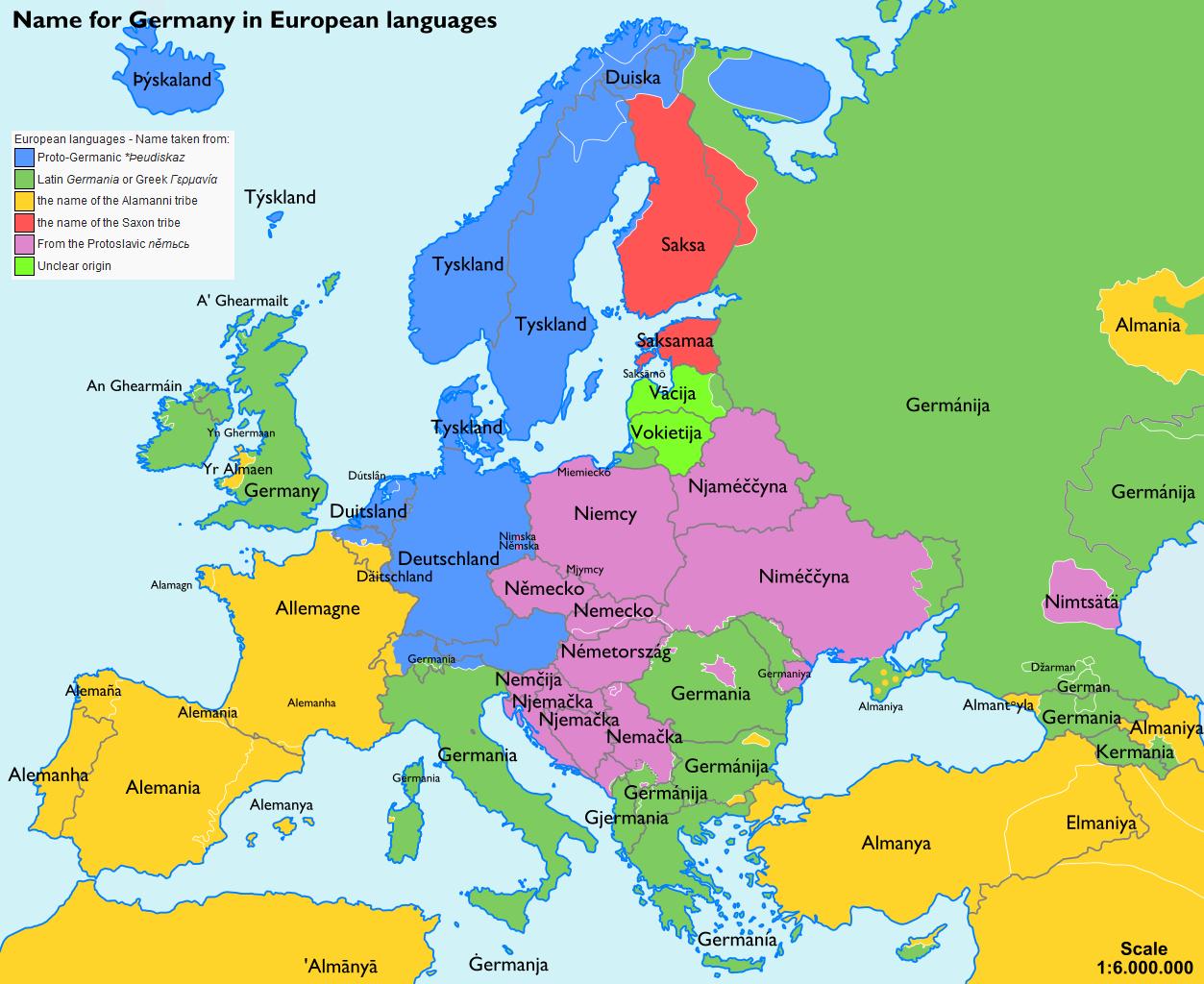 Landkartenblog: Europakarte Zeigt Wie Deutschland Im Ausland für Europakarte Mit Hauptstädten Zum Ausdrucken