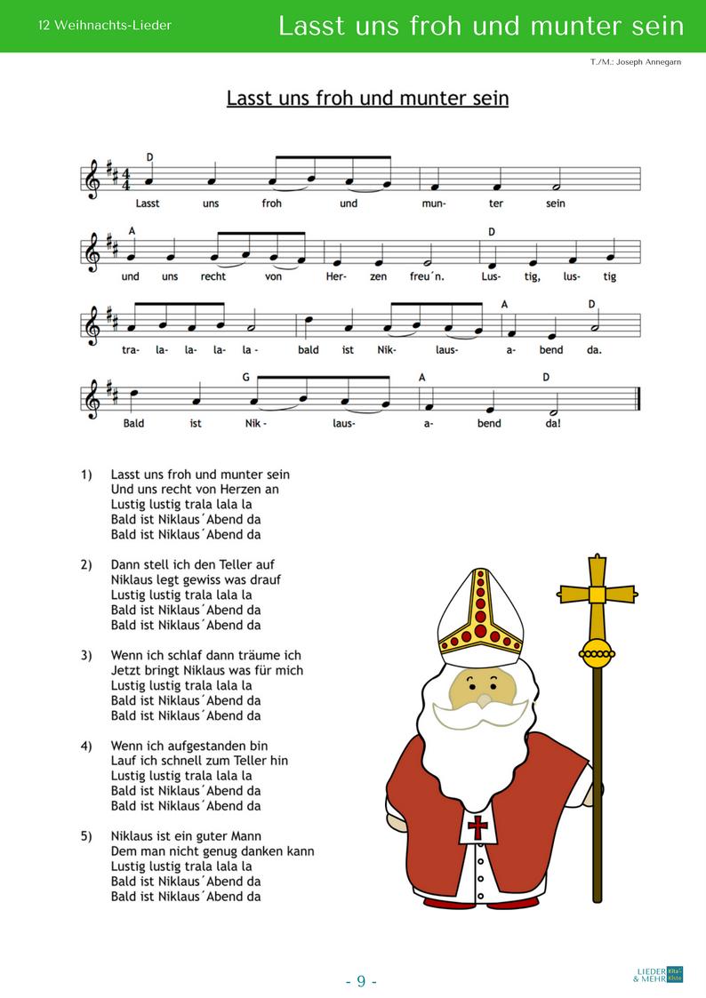 Lasst Uns Froh Und Munter Sein (Noten) #bestkaraokemachine ganzes Lied Lasst Uns Froh Und Munter Sein
