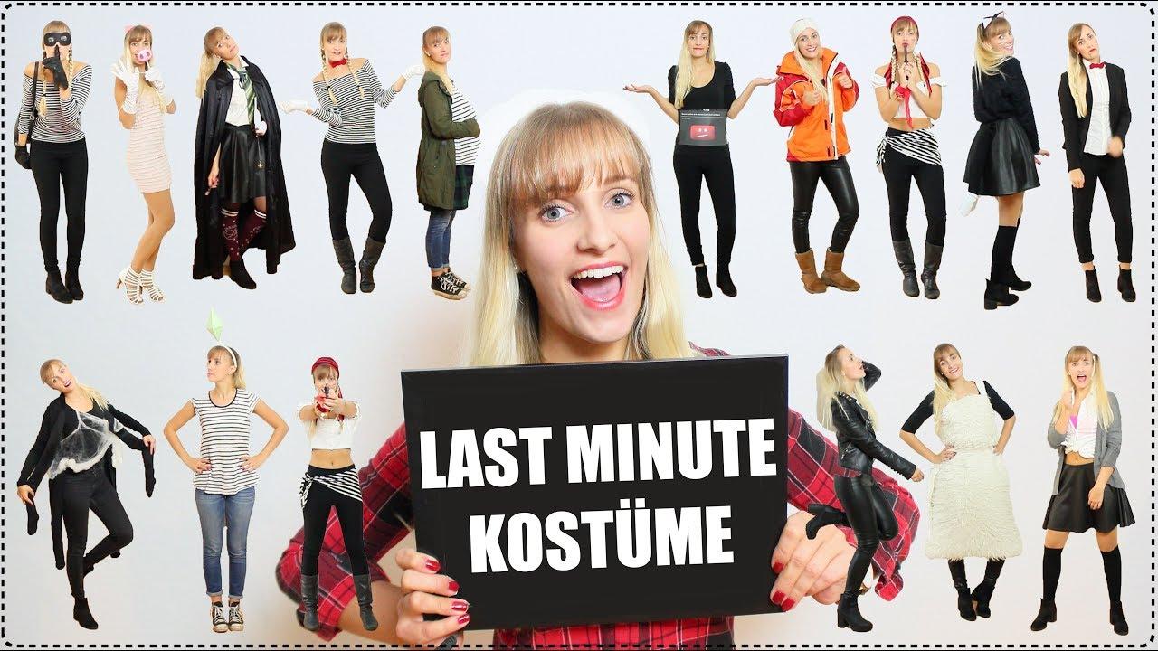 Last Minute Kostüme + Diys! | Schnell & Einfach! in Halloween Kostüm Selber Machen Last Minute