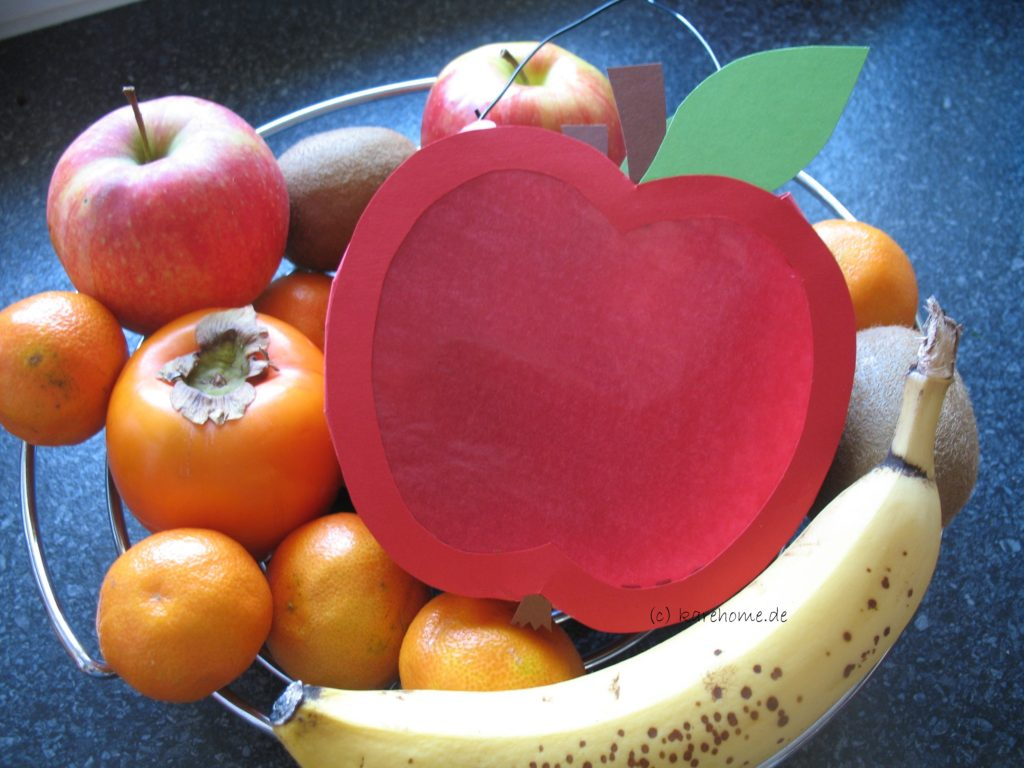Laterne Basteln Für Kinder: Einen Apfel – Karehome für Bastelvorlage Apfel