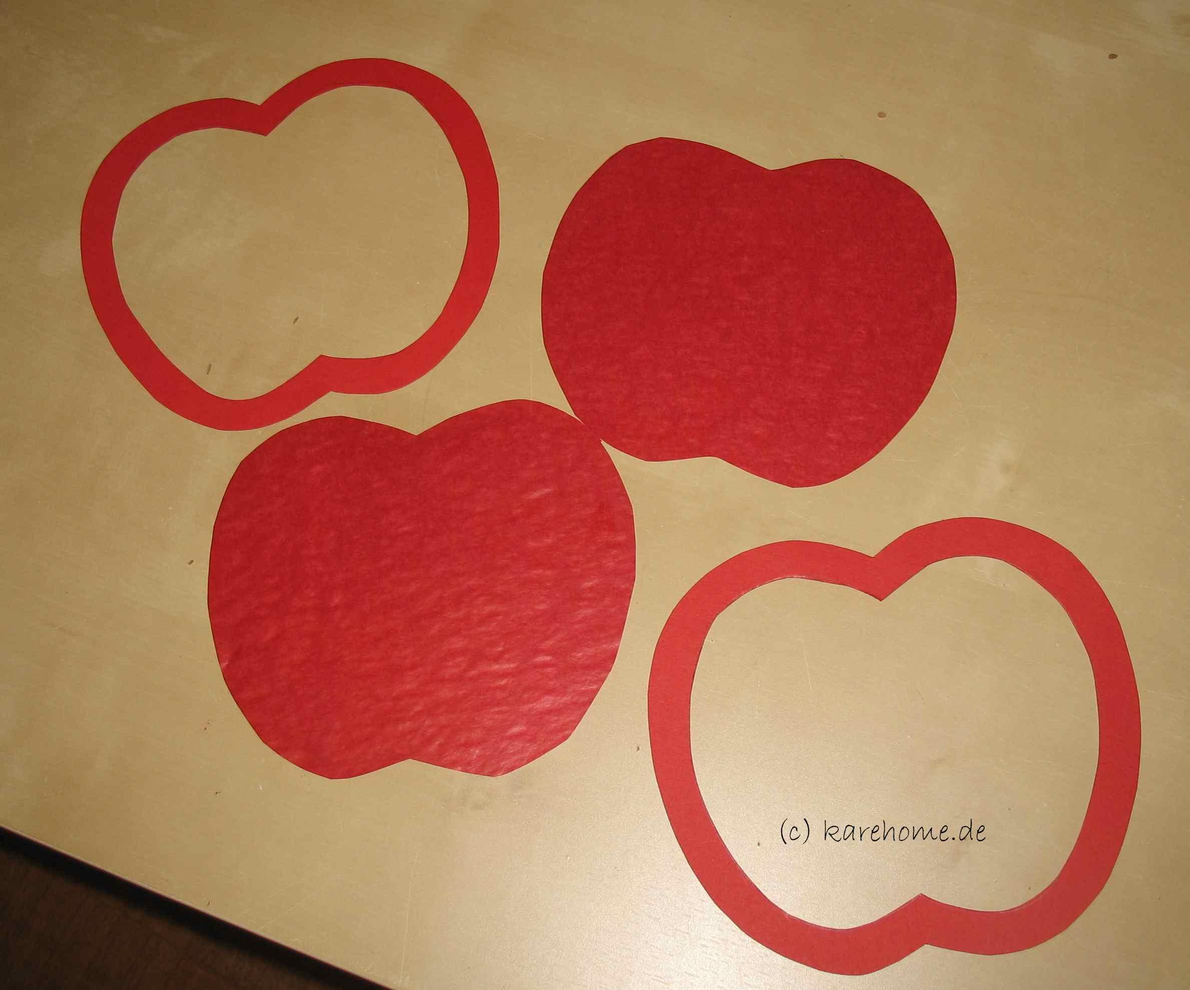 Laterne Basteln Für Kinder: Einen Apfel – Karehome mit Bastelvorlage Apfel