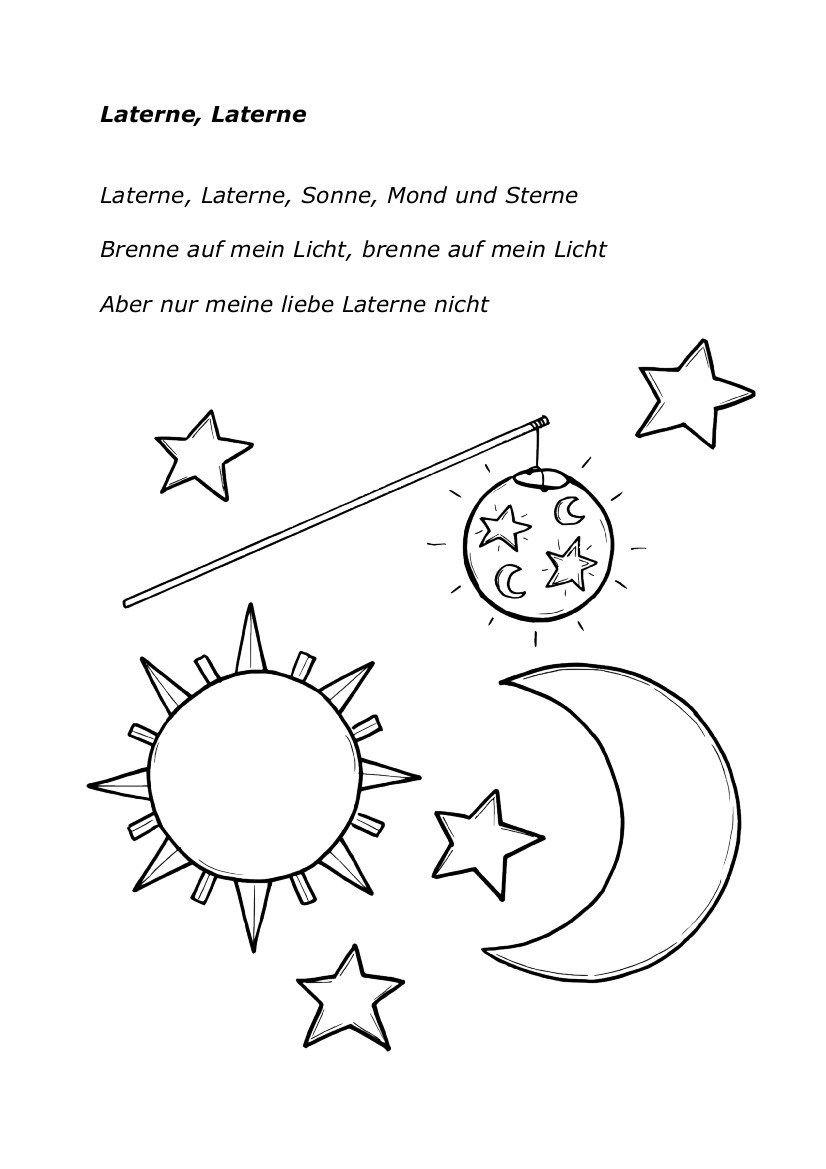 Laterne Laterne | Lieder, Laterne Lied bestimmt für Laterne Sonne Mond Und Sterne Text