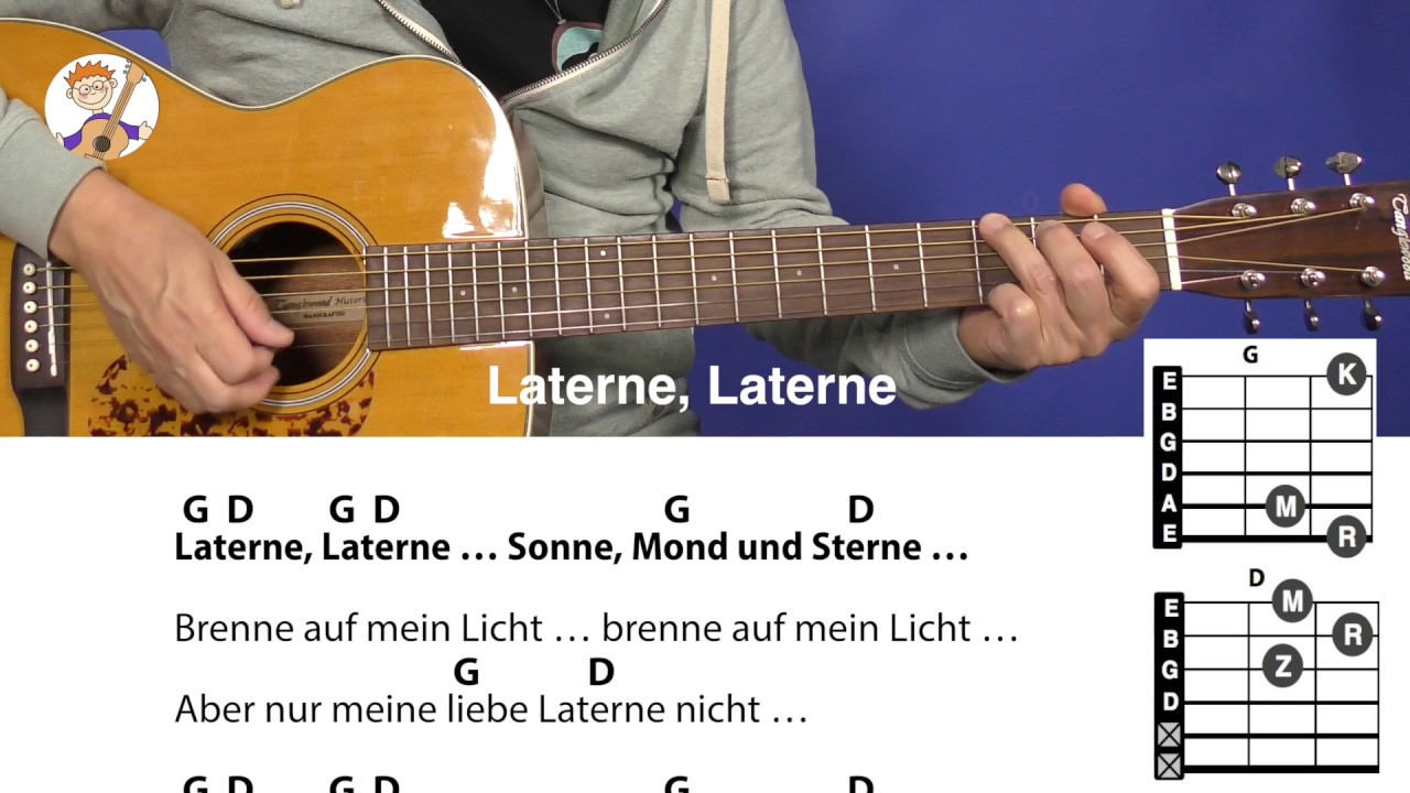 Laterne, Laterne, Sonne, Mond Und Sterne, Laternenlied Mit Akkorden + Text  Für Gitarre verwandt mit Laterne Sonne Mond Und Sterne Text
