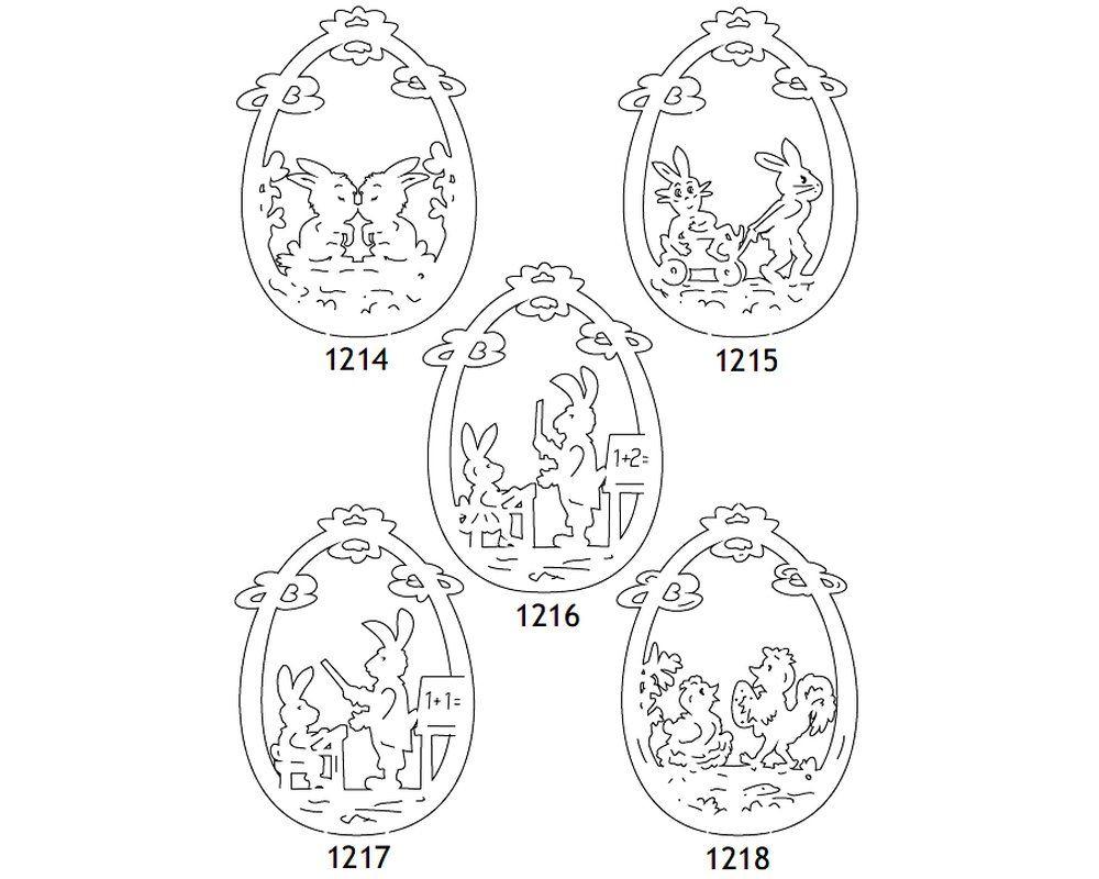 Laubsägen Ostern 5X Vorlagen Osterhase Osterdeko (Mit ganzes Fensterbilder Vorlagen Ostern