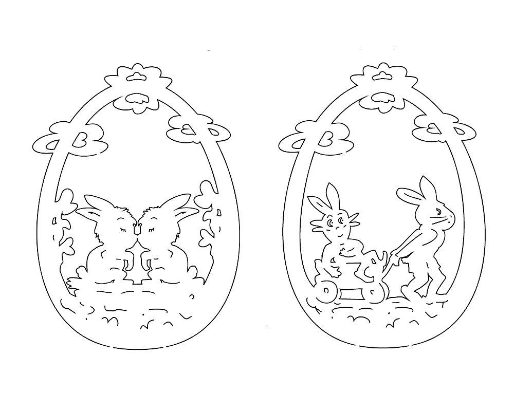 Laubsägen Ostern 5X Vorlagen Osterhase Osterdeko über Fensterbilder Vorlagen Ostern
