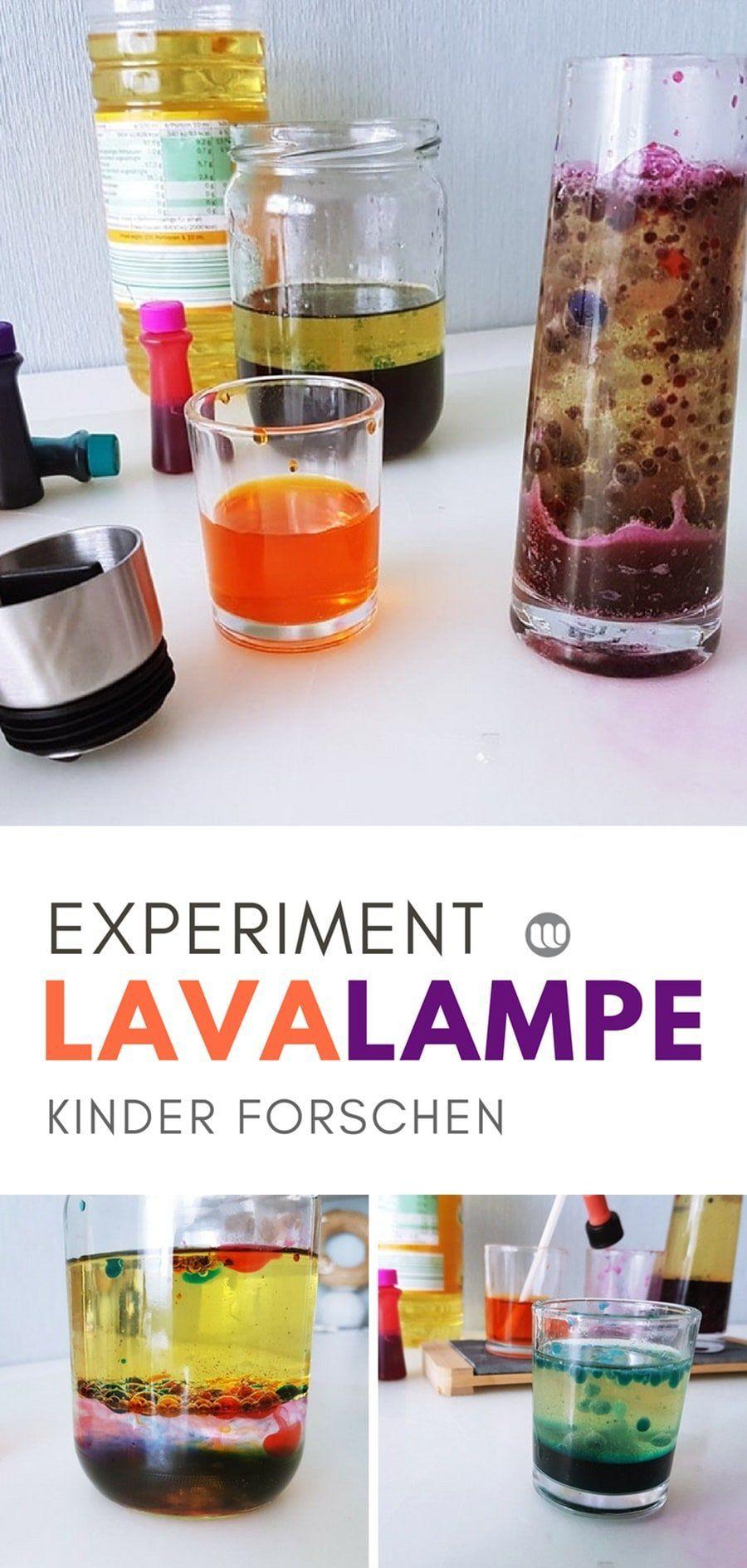 Lavalampe Selber Machen: Wasser Öl Experiment Für Kinder verwandt mit Experiment Mit Wasser Öl Und Lebensmittelfarbe