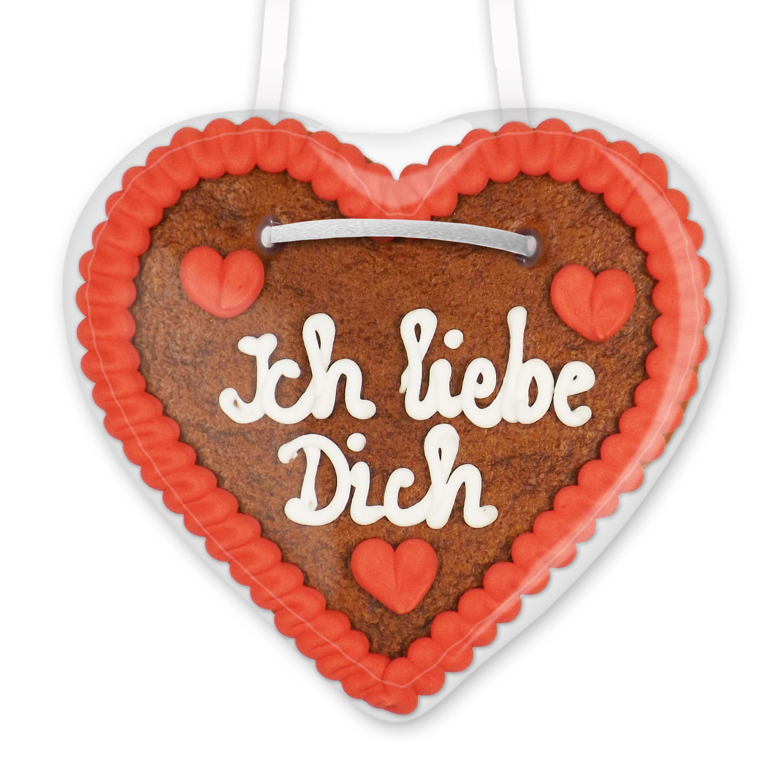 Lebkuchenherz 12Cm - Ich Liebe Dich in Ich Liebe Dich Bilder