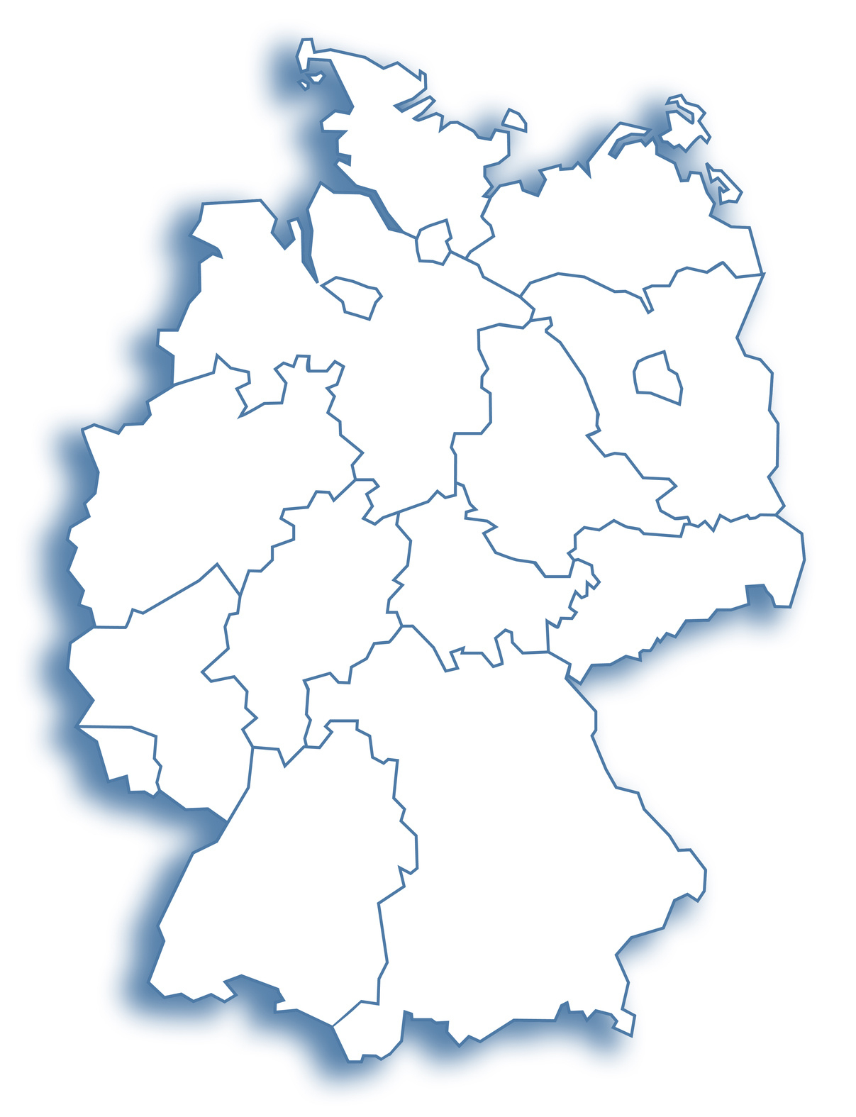 Leere Karte Bundesländer   Goudenelftal für Deutschlandkarte Bundesländer Blanko