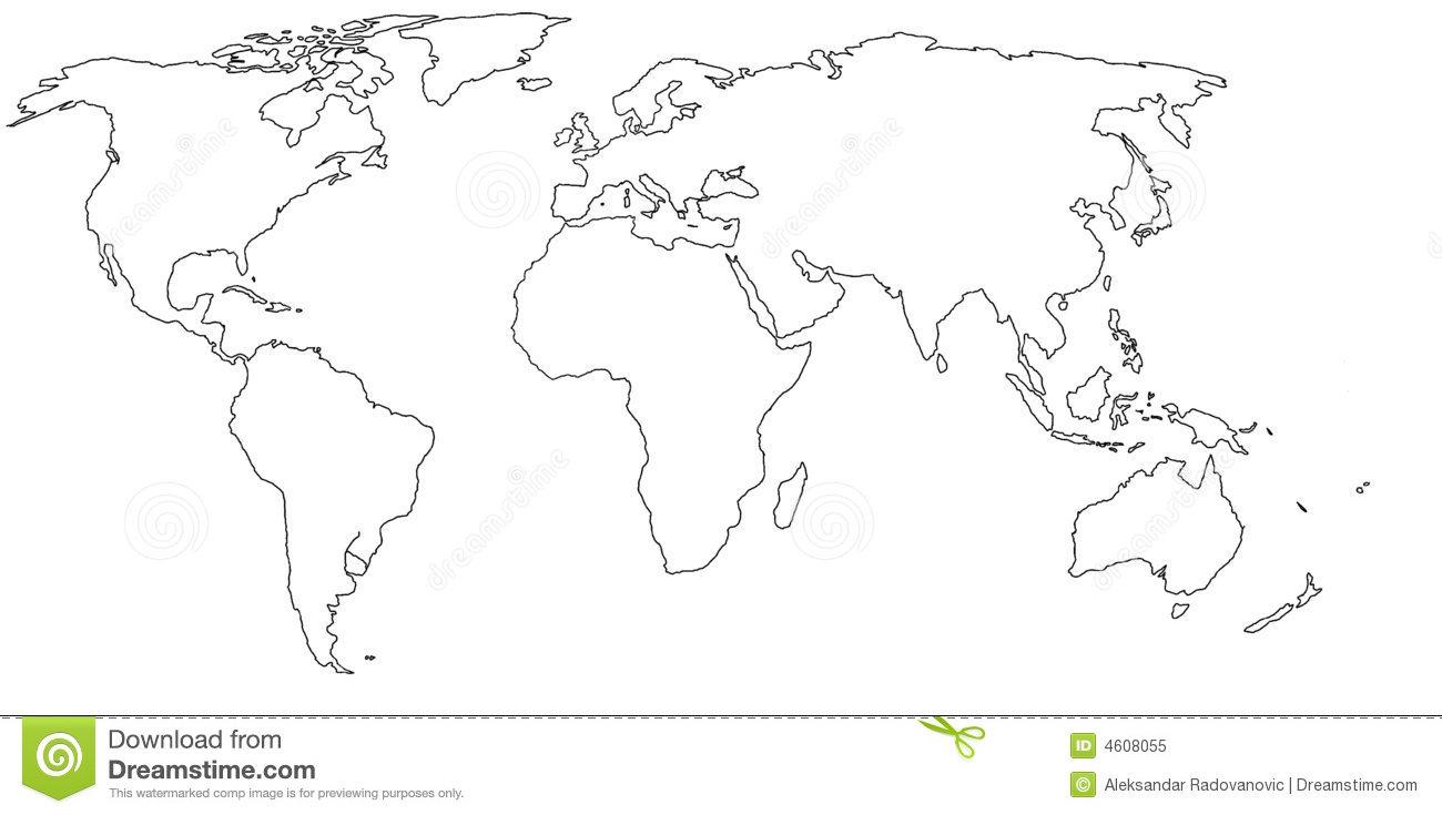 Leere Weltkarte Stock Abbildung. Illustration Von Welt - 4608055 innen Weltkarte Blanko