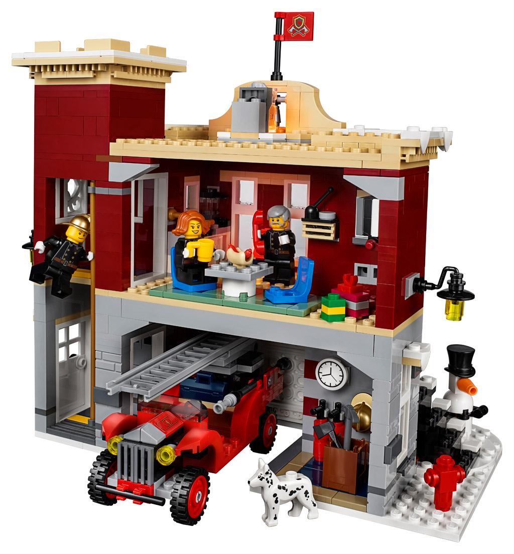 Lego Creator Expert Winterliche Feuerwache 10263 Gelistet für Lego Feuerwehrwache
