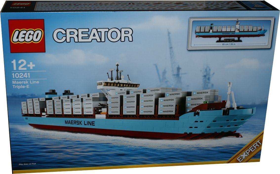 Lego Exklusiv 10241 Maersk Containerschiff Miwarz Berlin Teltow mit Playmobil Containerschiff