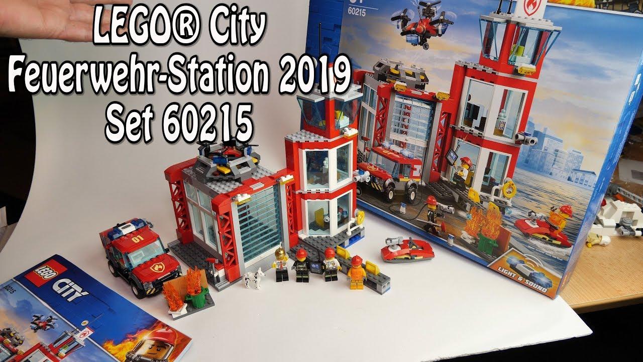 Lego Feuerwehr-Station 2019 (City Set 60215) Review Deutsch für Lego Feuerwehrwache