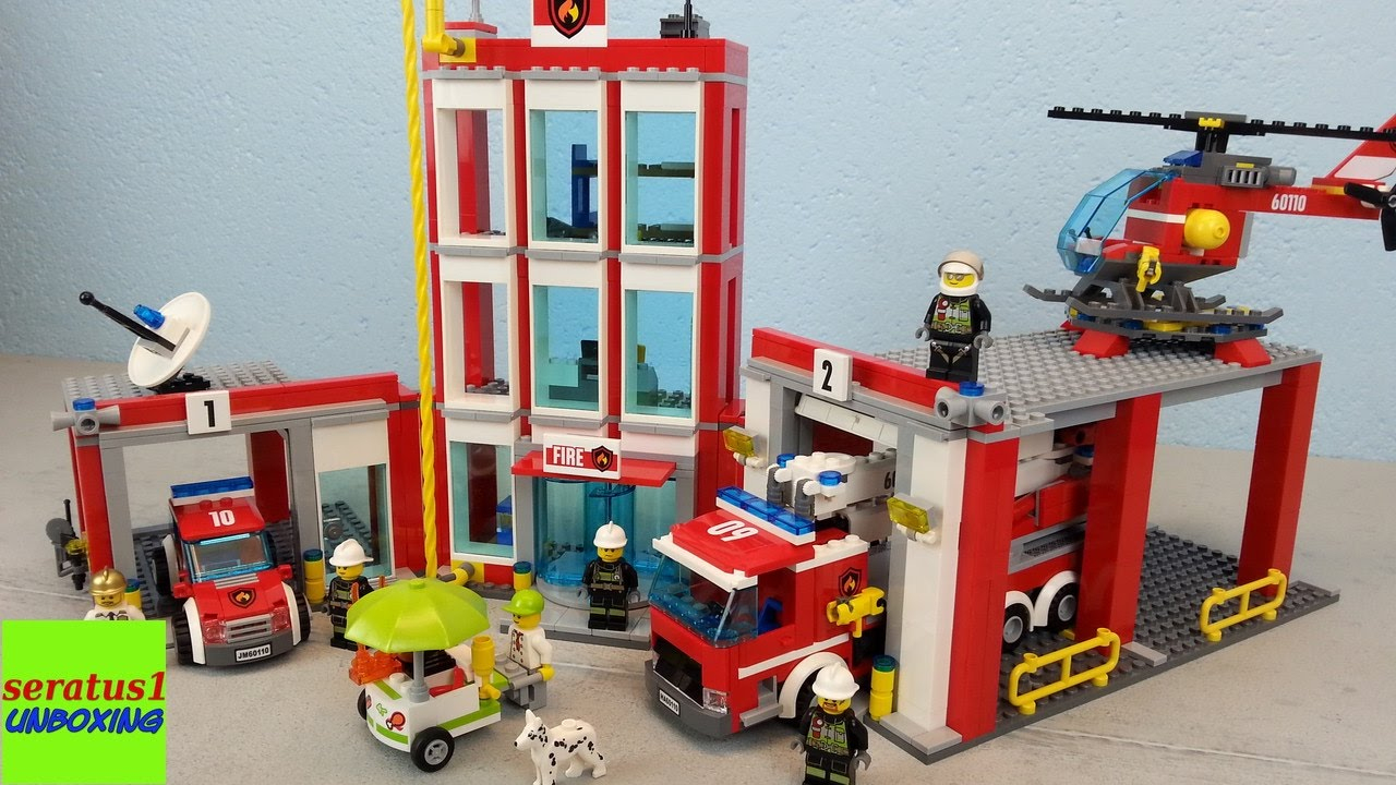Lego Feuerwehrstation 60110 Auspacken Seratus1 Unboxing für Lego Feuerwehrwache