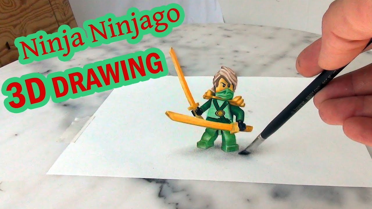 Lego Ninja Ninjago │Malen In 3D│ Illusion!! ganzes Ninjago Malen