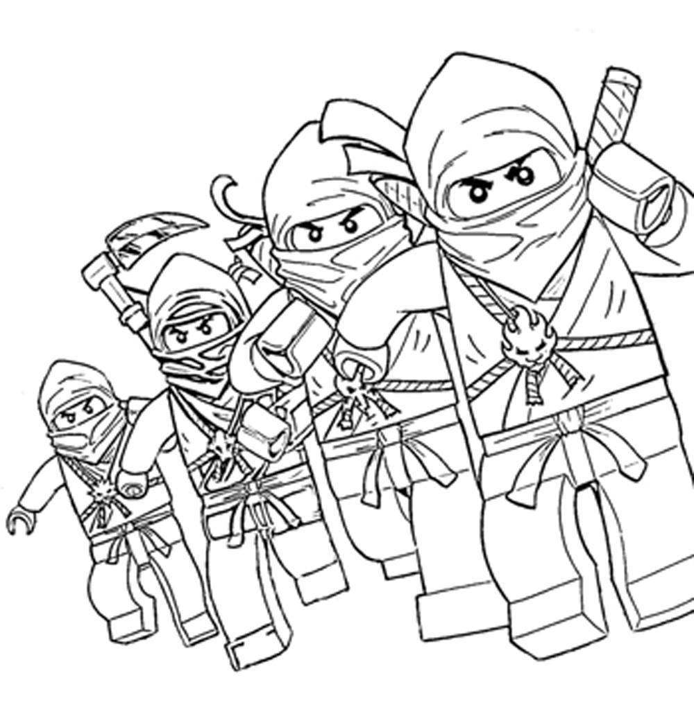 Lego Ninjago Characters Coloring Pages Printable Kids bestimmt für Ninjago Ausmalbilder Kostenlos Drucken
