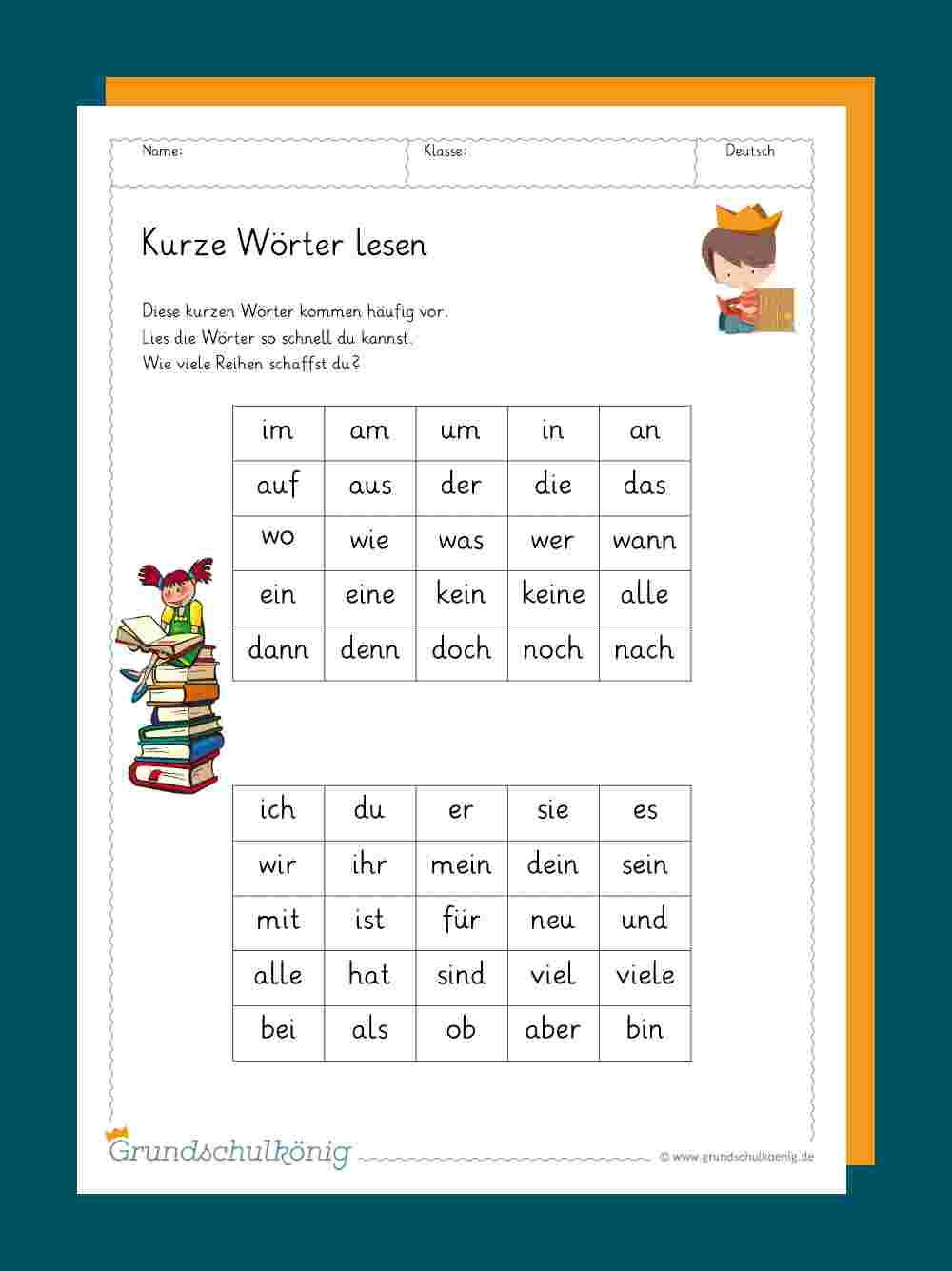 Lesetempo Aufbauen: Silbenteppiche ganzes Lesen Lernen Arbeitsblätter Kostenlos