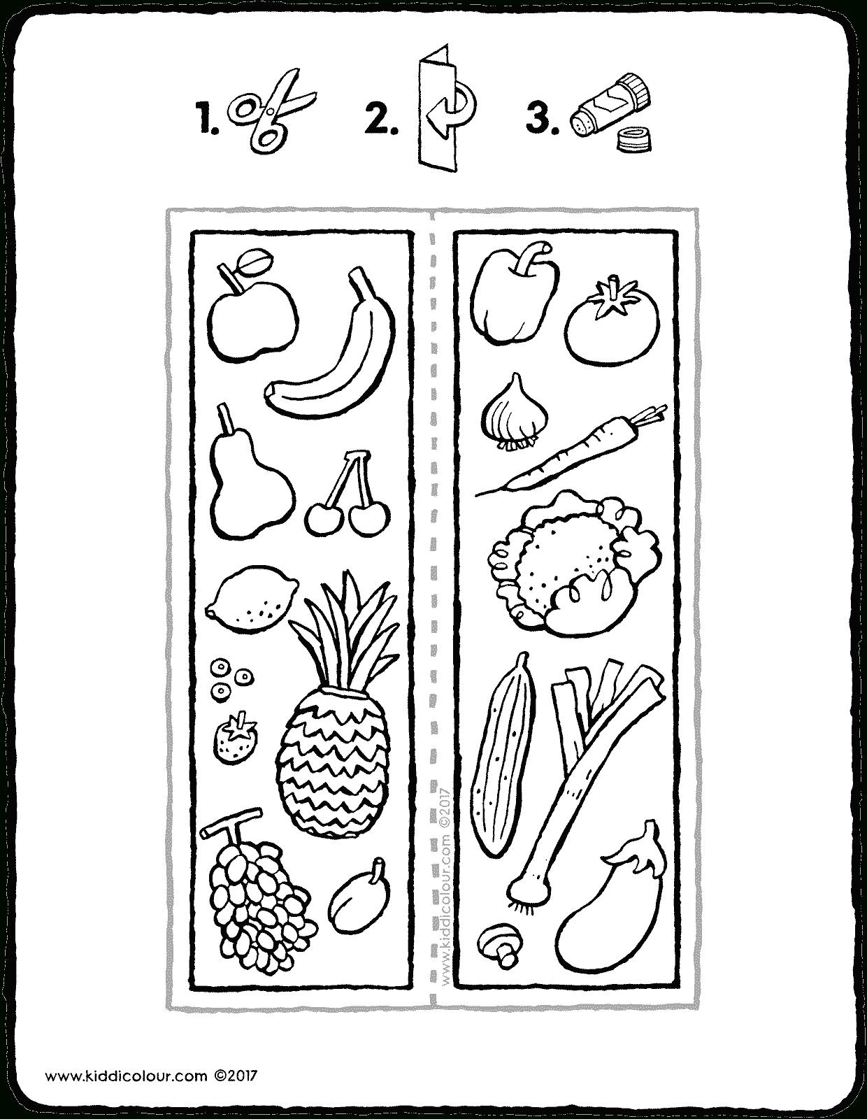 Lesezeichen Obst Und Gemüse - Kiddimalseite in Ausmalbilder Gemüse