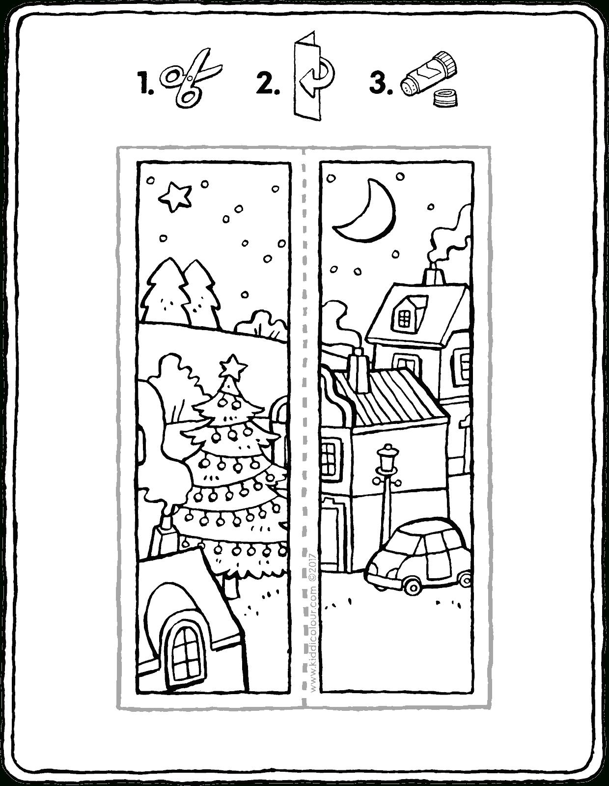 Lesezeichen Weihnachten - Kiddimalseite bestimmt für Ausmalbilder Weihnachten