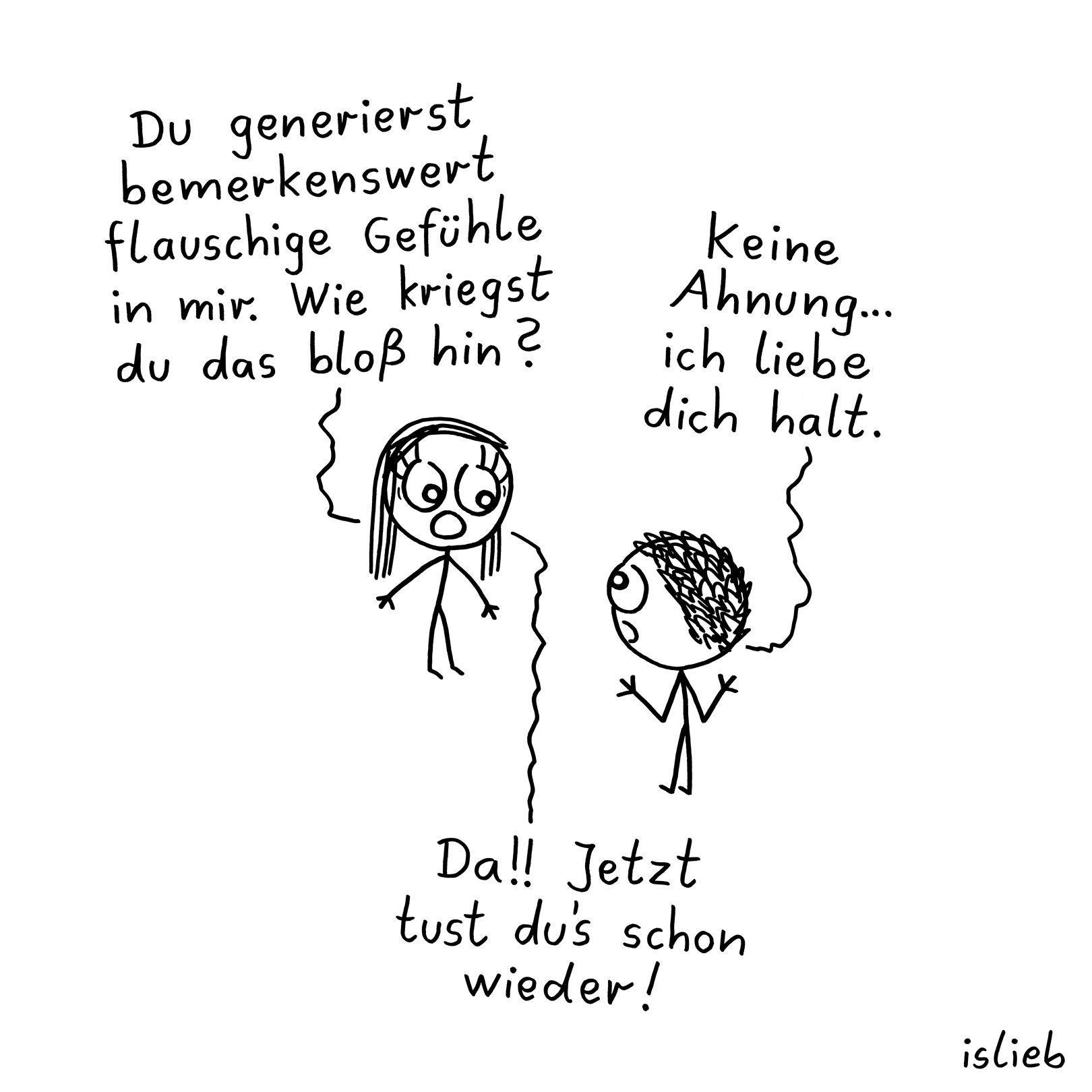 Liebe #verliebt #flauschig #gefühle #comics #islieb mit Verliebtes Paar Comic