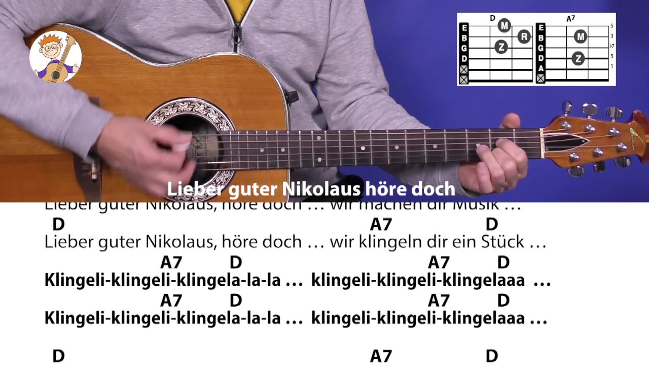 Lieber Guter Nikolaus Höre Doch, Nikolauslied Mit 2 Akkorden & Text Für  Gitarre für Guten Tag Ich Bin Der Nikolaus Akkorde