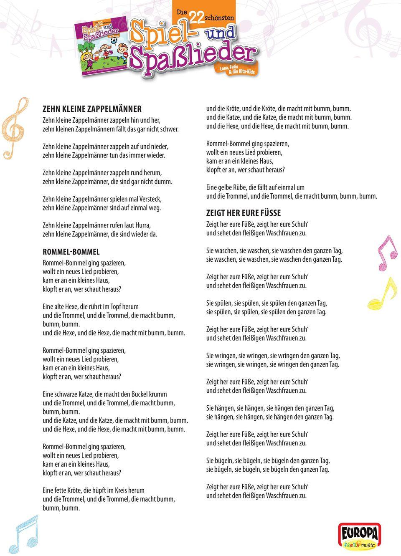 Liedtexte Zum Ausdrucken & Mitsingen - Pdf Free Download verwandt mit Unser Kleiner Bär Im Zoo Noten