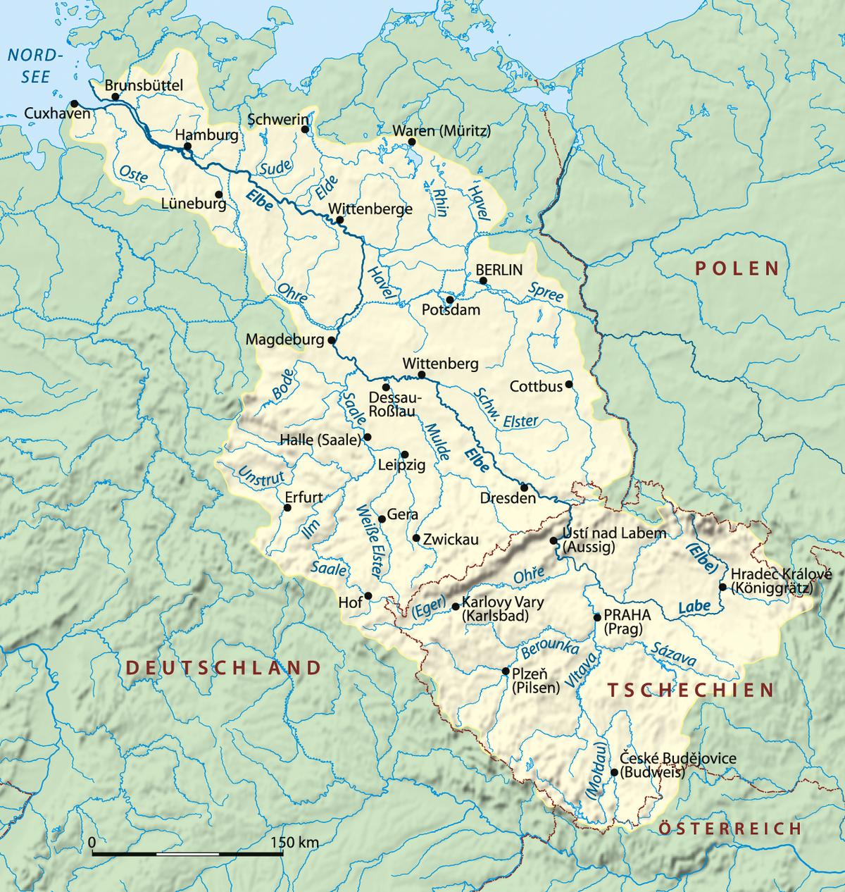 Liste Von Städten Und Orten An Der Elbe – Wikipedia bei Landeshauptstädte Deutschland Liste