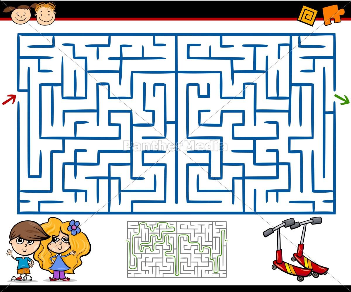 Lizenzfreie Vektorgrafik 14317451 - Cartoon Labyrinth Oder Labyrinth Spiel in Labyrinth Spiele Kostenlos