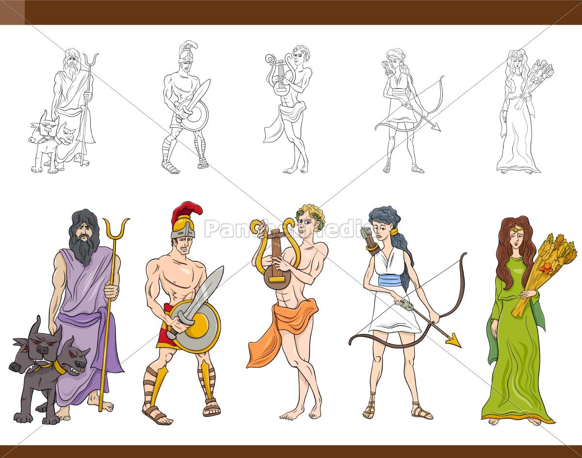 Lizenzfreie Vektorgrafik 14983829 - Griechischen Götter Gesetzte Abbildung in Griechische Götter Bilder Und Namen