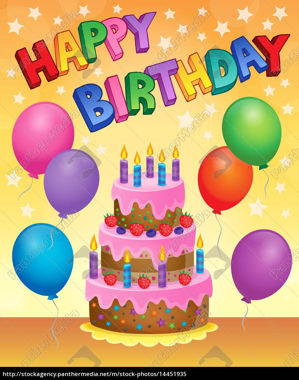 Lizenzfreies Bild 14451935 - Geburtstagstorte Thema Bild 9 über Bilder Geburtstagstorte