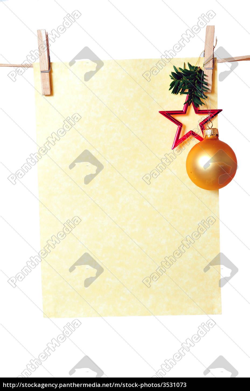 Lizenzfreies Bild 3531073 - Weihnachten Briefpapier innen Weihnachten Briefpapier