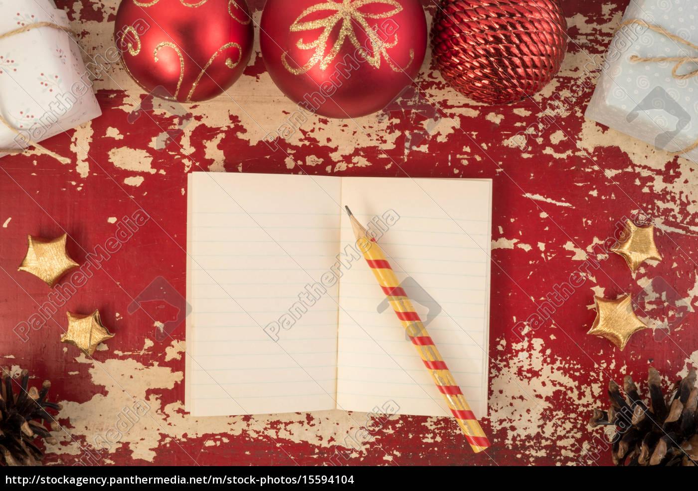 Lizenzfreies Foto 15594104 - Weihnachtskarte Hintergrund Notebook Vorlage für Weihnachtskarte Vorlage