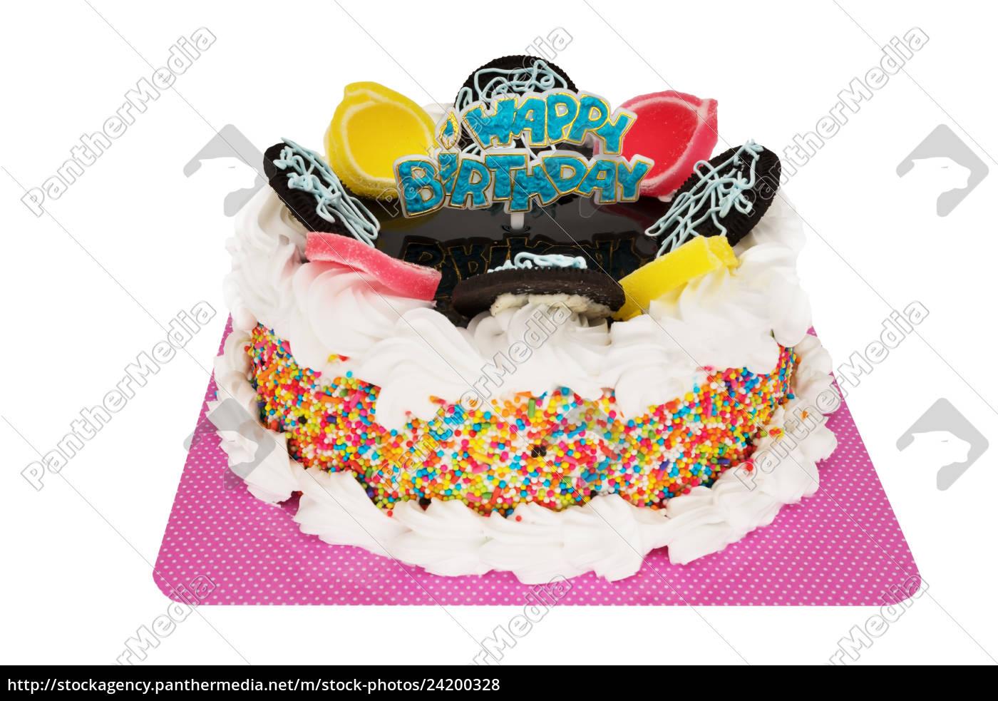 Lizenzfreies Foto 24200328 - Torte Happy Birthday innen Torte Happy Birthday
