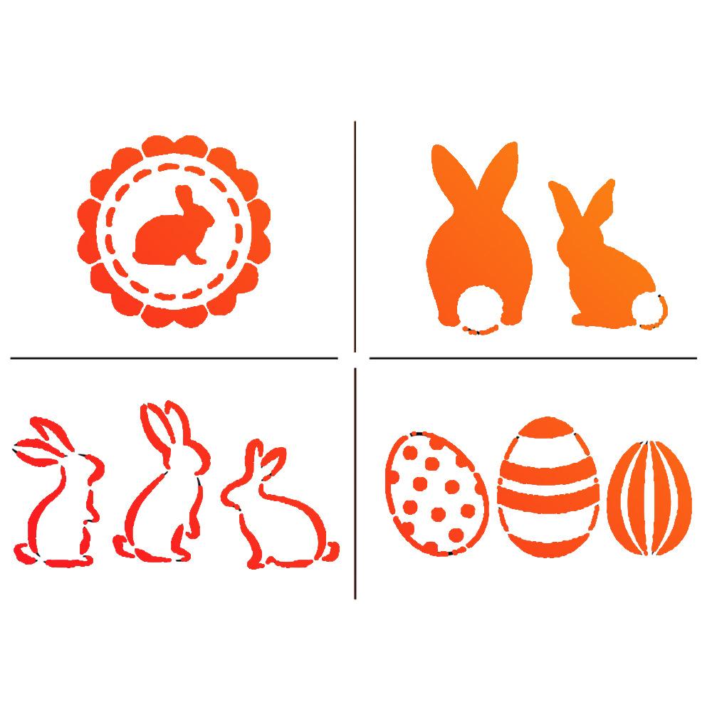 Lm- Kreativ - Dein Diy Partner - Viva Decor mit Schablonen Ostern