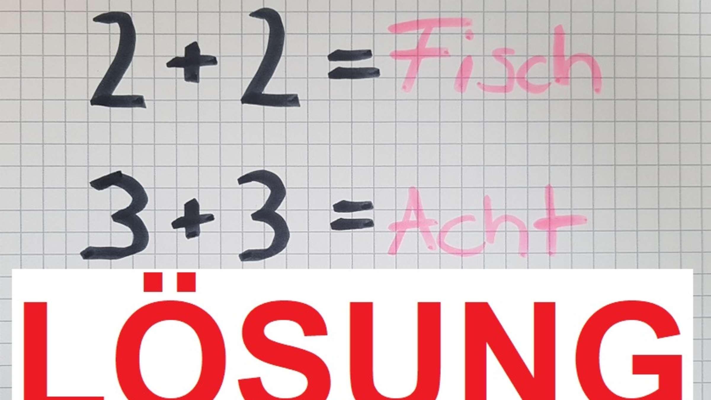 Lösung: Mathe-Rätsel Ist Kinderleicht - Und Trotzdem bestimmt für Bilder Rätsel Lösung
