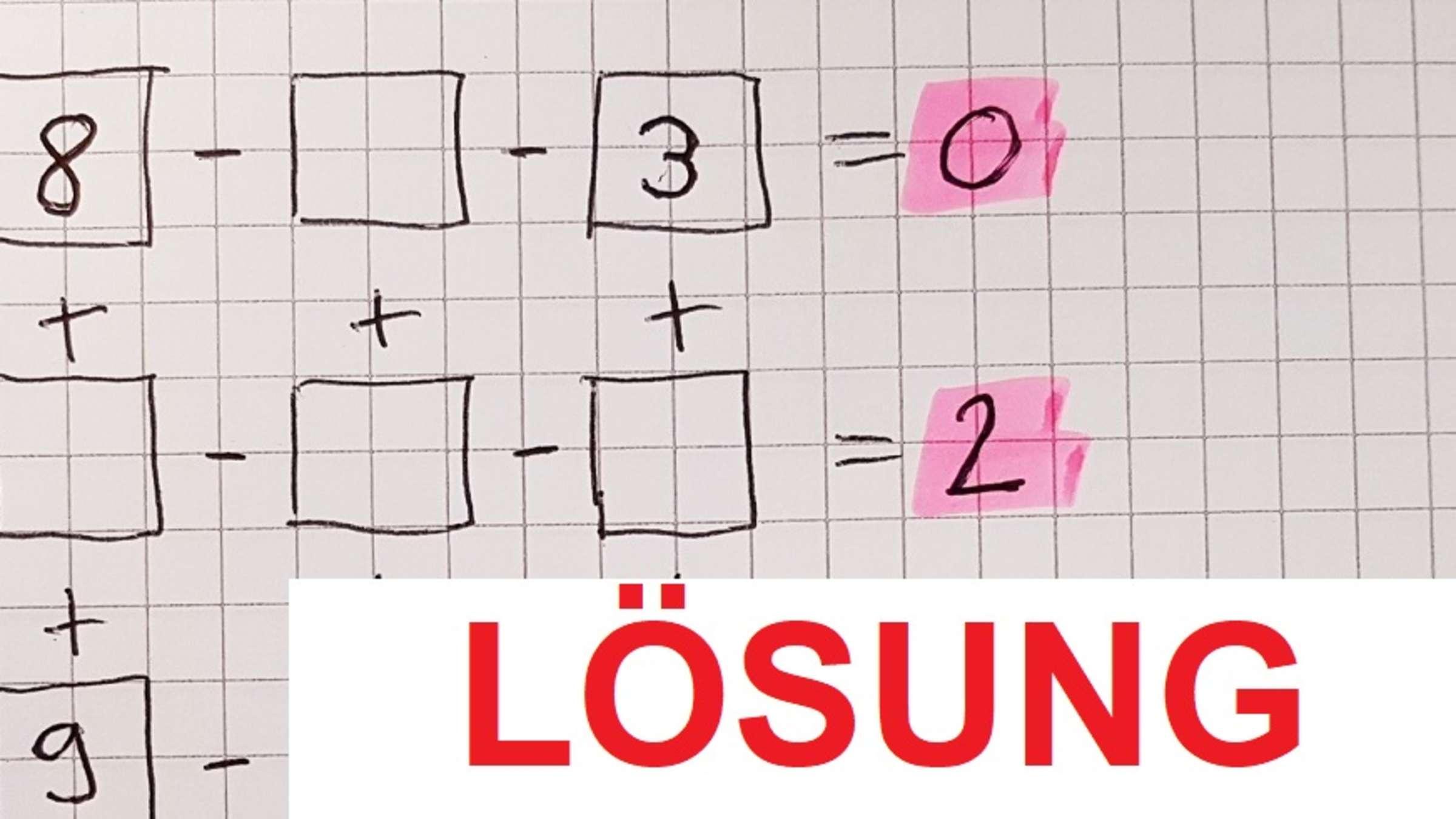Lösung Mathe-Rätsel: Zweitklässler Lösen Es Sofort, Andere bei Bilder Rätsel Lösung