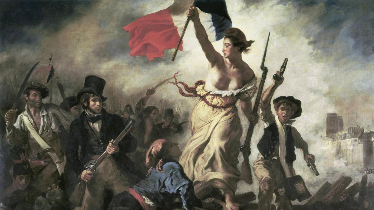 Louvre In Lens: Frau Malt 9/11-Hinweis Auf Berühmtes Gemälde in Delacroix Die Freiheit Führt Das Volk