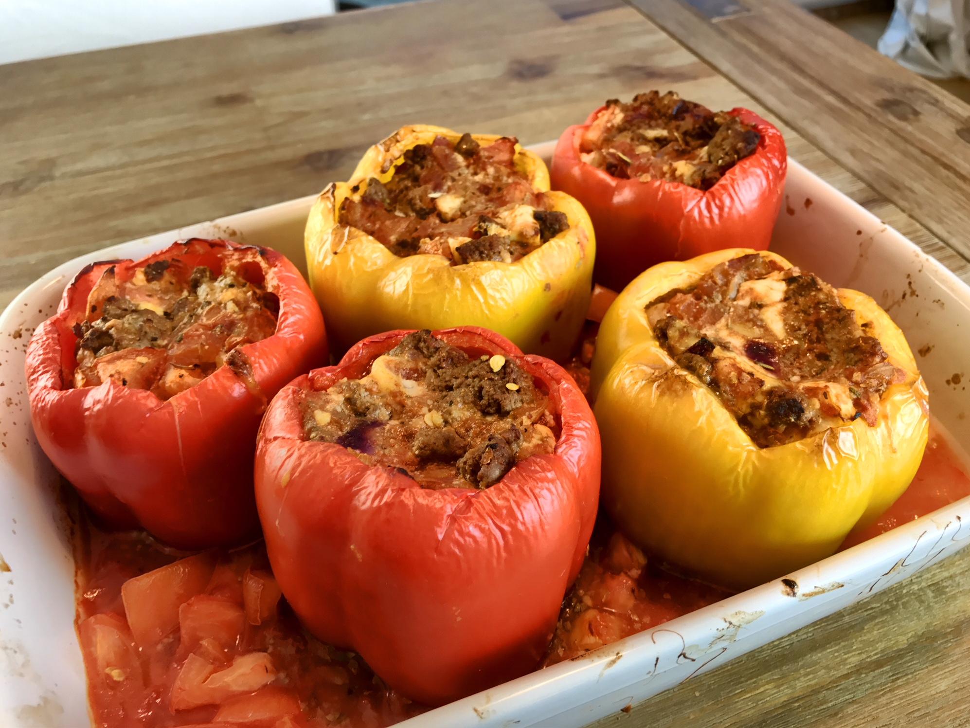 Low Carb Gefüllte Paprika mit Gefüllte Paprika Mit Hackfleisch Einfach