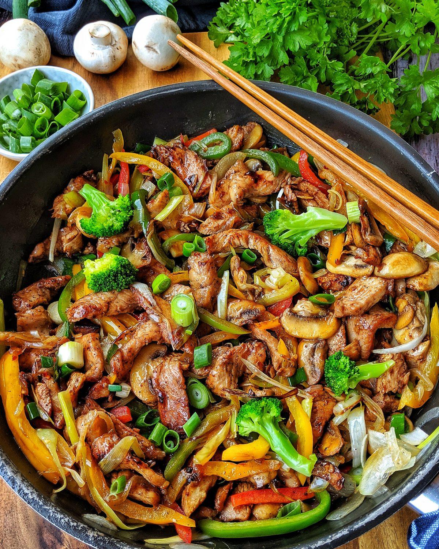 Lowcarb Gemüsepfanne Mit Geflügel bestimmt für Leckere Pfannengerichte Mit Fleisch