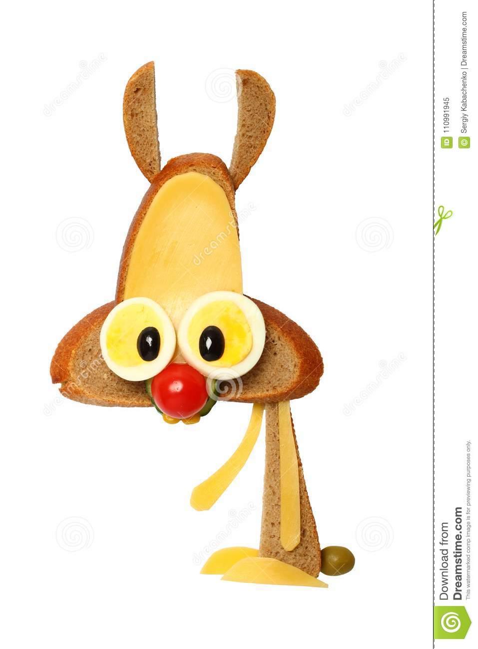 Lustige Hasen Gemacht Mit Brot, Ei Und Käse Für Schnellen bei Lustige Hasen Bilder Kostenlos