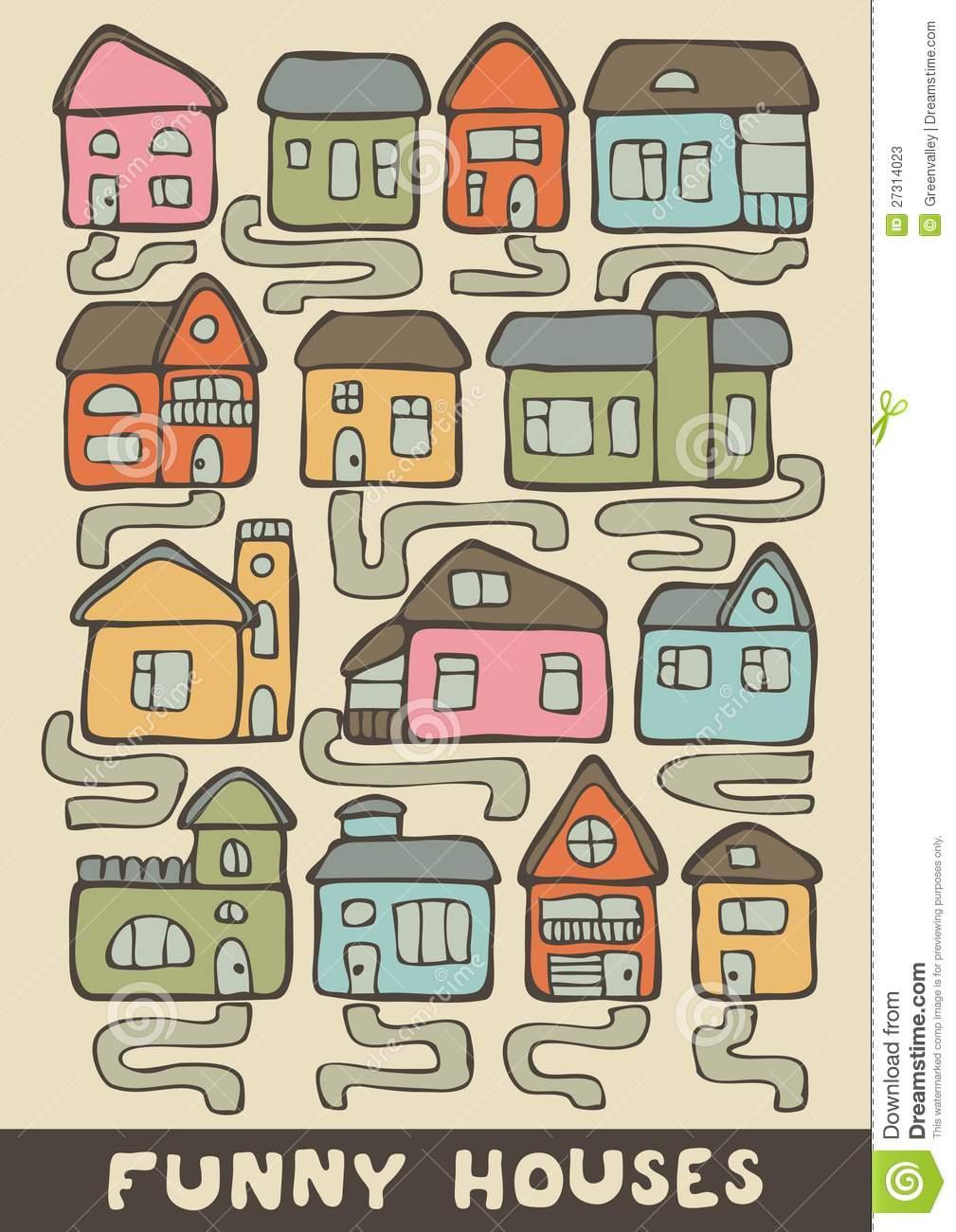 Lustige Häuser Vektor Abbildung. Illustration Von Haus für Lustige Häuser Bilder