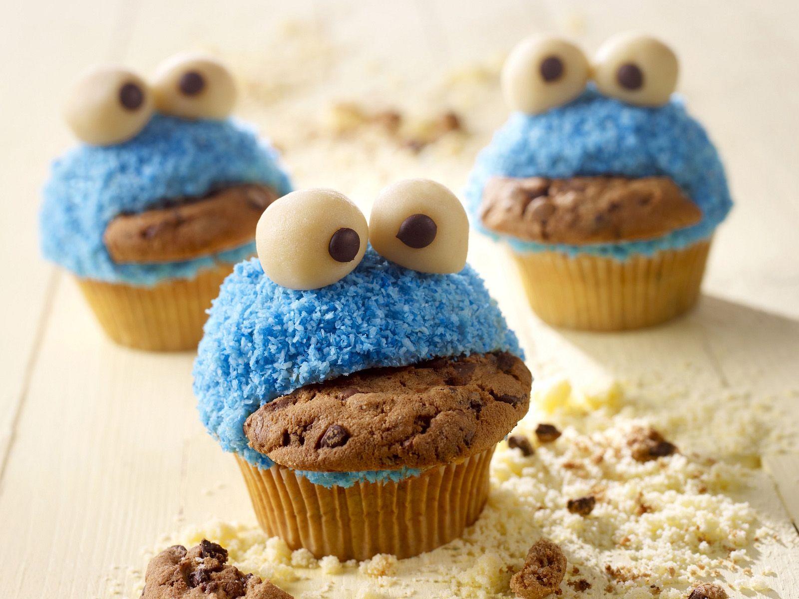 Lustige Monster Muffins in Lustige Muffins Für Kindergeburtstag