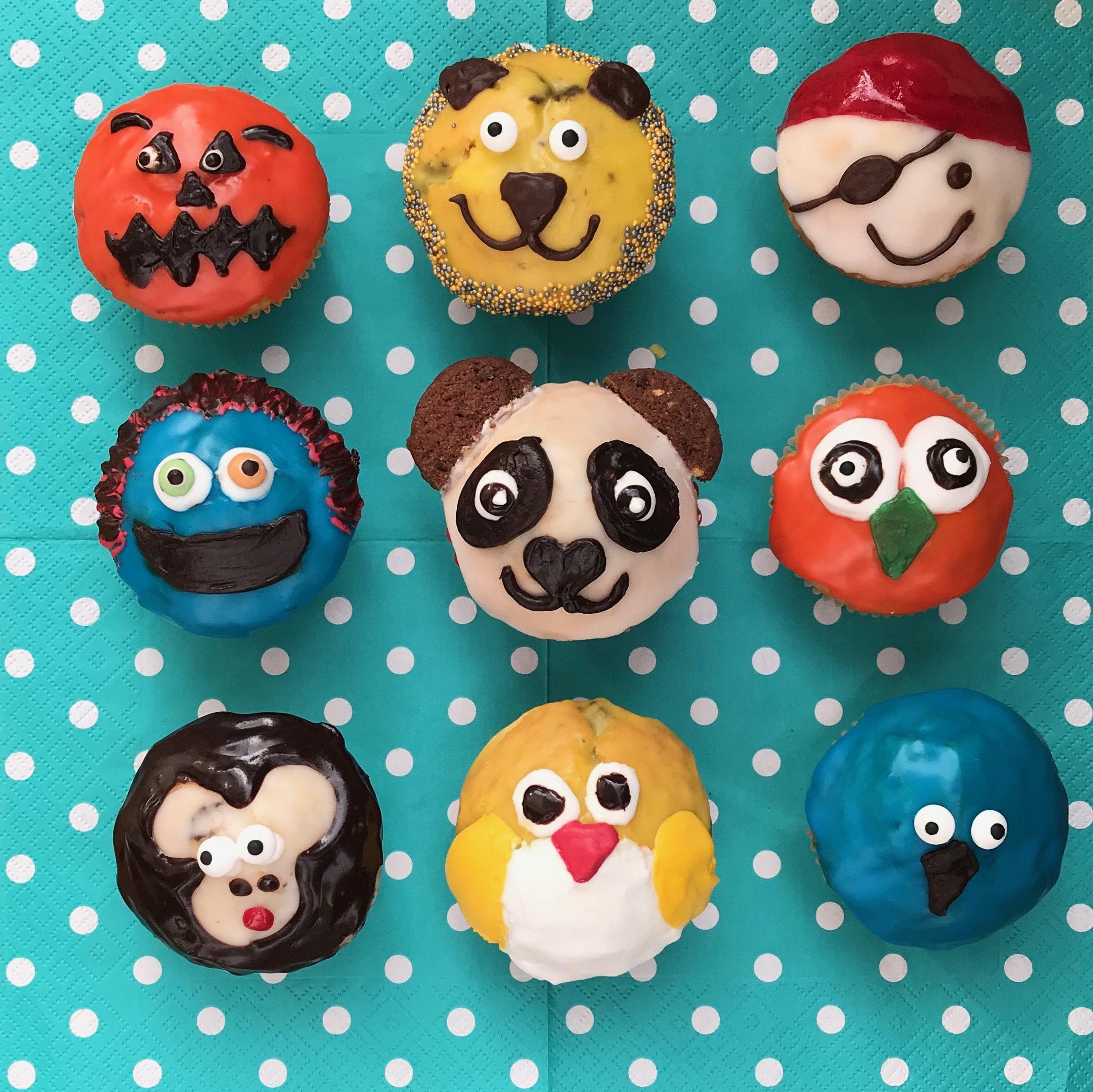 Lustige Muffins Mit Schokostücken - Einfaches Rezept Für Den verwandt mit Lustige Muffins Für Kindergeburtstag