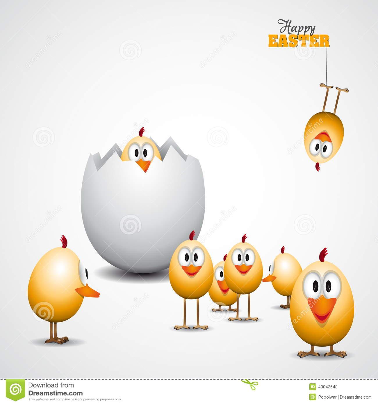 Lustige Ostereiküken, Hintergrundillustration, Fröhliche ganzes Lustiges Zu Ostern