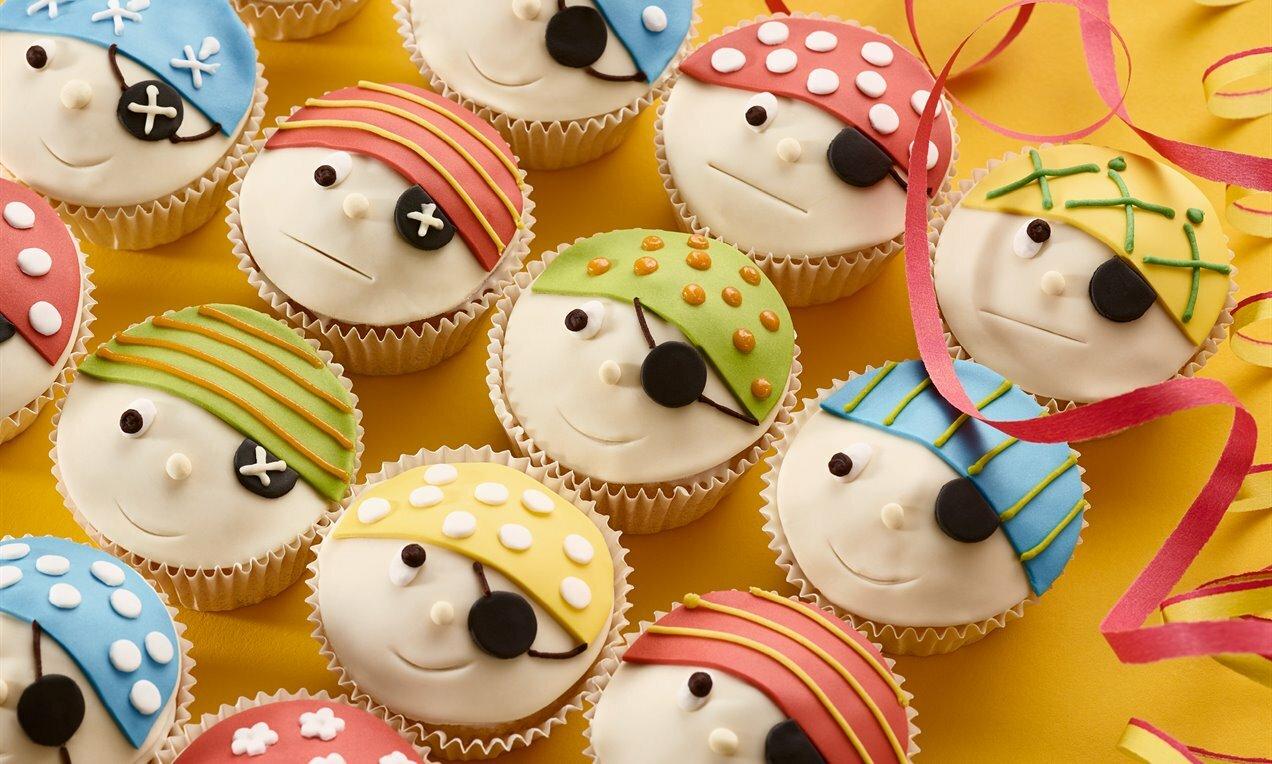 Lustige Piraten-Muffins bestimmt für Lustige Muffins Für Kindergeburtstag