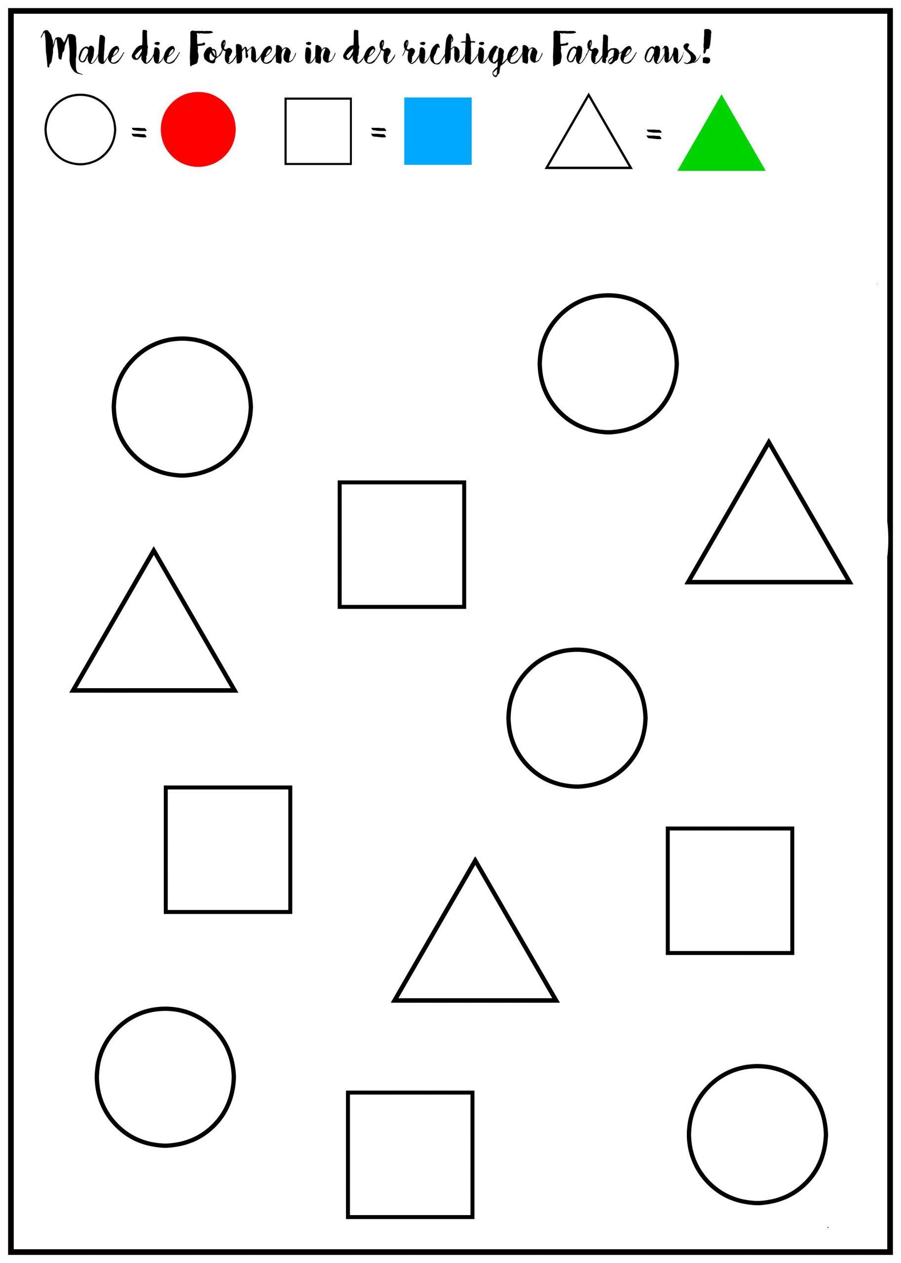 Mach Mal! Rätsel Für Kinder [Free Printable] | Ich Und Du bei Geometrische Formen Im Kindergarten
